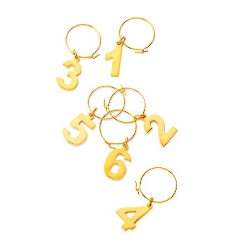 Belmont™ Gold Plated Wine Charms by Viski