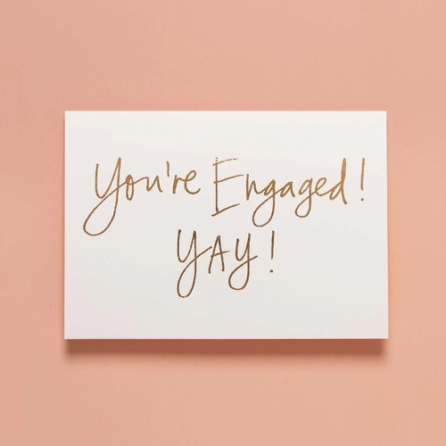YOU'RE ENGAGED! YAY!