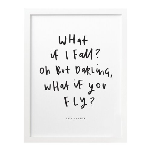 A3 What If I Fall Print