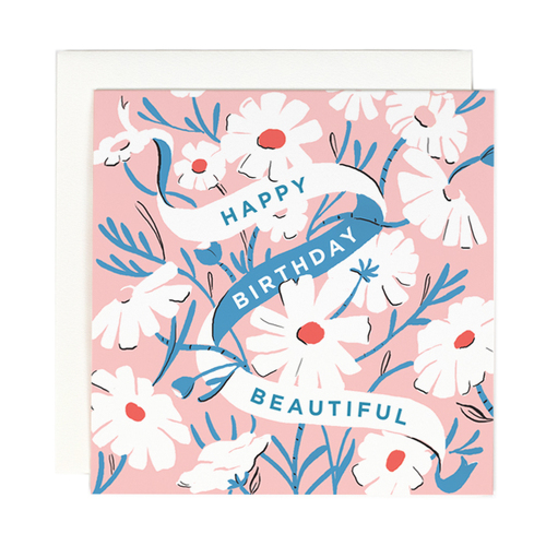 Happy Birthday Beautiful Square Card