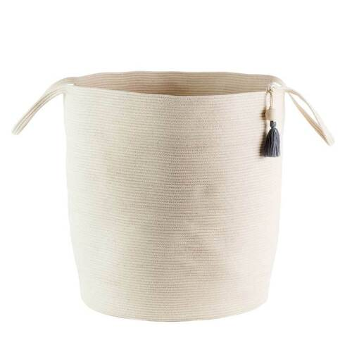 Ivory Floor Basket L