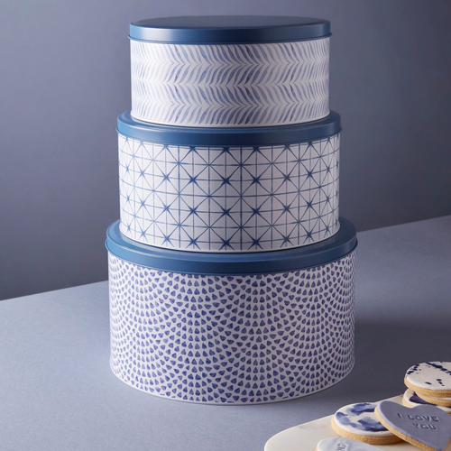 The Cerulean Collection - Set of 3 Cake Tins
