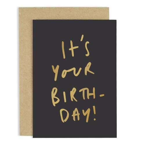 It's Your Birth-Day Gold Card