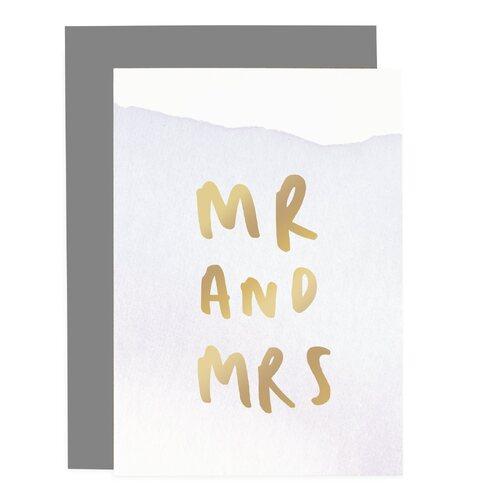 Mr And Mrs - Ombre Card