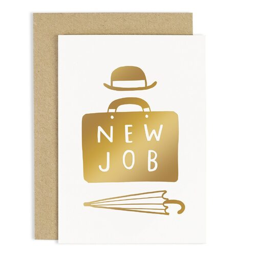 New Job Suitcase Card