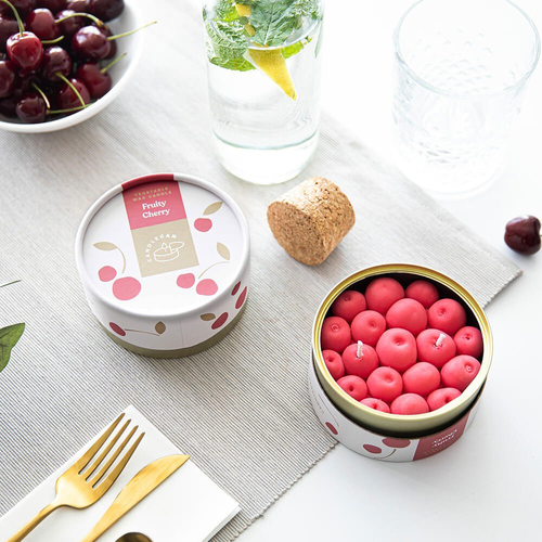 Fruity Cherry Scented Soy CandleCan