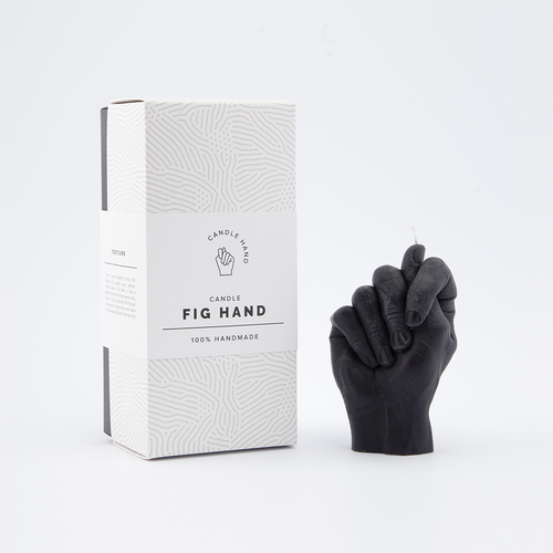 """Fig Hand"" Hand Gesture Candle Black"