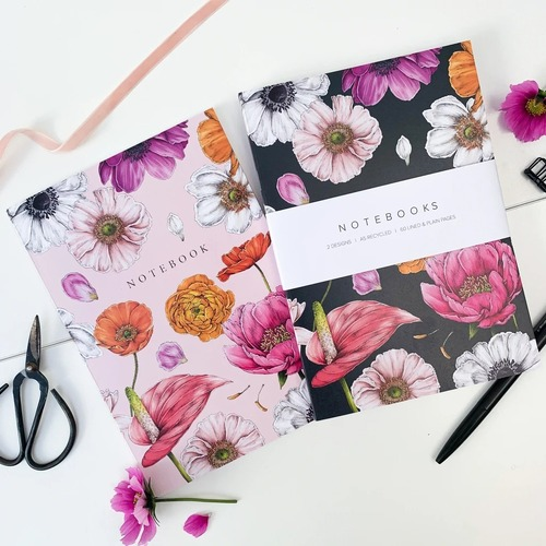 A5 Notebook Set - Floral Brights