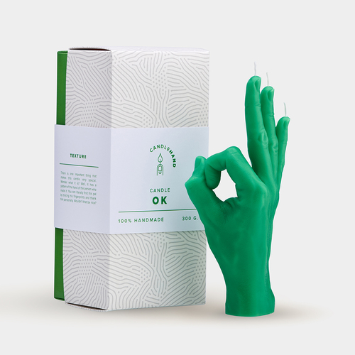 """OK"" Candle Hand Gesture Green"