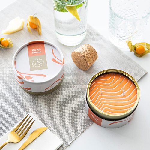 Orange Salmon Scented Soy CandleCan