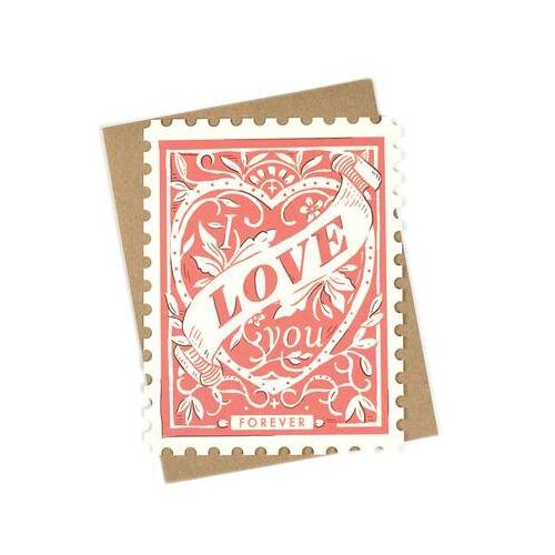 Love You Forever die-cut flat note