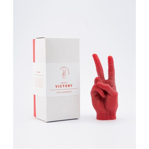 """Victory"" Candle Hand Gesture Red"